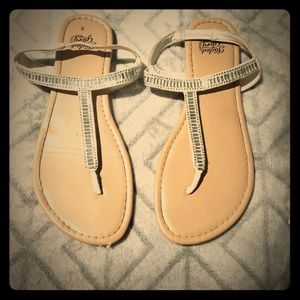 Faded glory white sandals